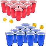 Fairly Odd Novelties FON-10253 Beer Pong Drinking Game Set - 22 Cups 4 Ping Pong Balls