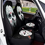 Midbeauty Jason Voorhees Front Car Seat Covers Set Vehicle Seat Protector Car Mat Covers