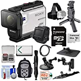 Sony Action Cam FDR-X3000R Wi-Fi GPS 4K HD Video Camera Camcorder & Live View Remote + Shooting Grip...