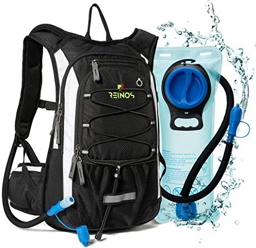 REINOS Hydration Backpack with 2L Bladder for Men & Women, Daypack with Thermal Insulation | Great for Hiking, Running, Cycling, Camping, Skiing, Outdoor Activities (Navy)