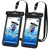 MoKo Floating Waterproof Phone Pouch [2 Pack], Floatable Phone Case Dry Bag with Lanyard Sponge Compatible with iPhone 11/11 Pro, X/Xs/Xr/Xs Max, 8/7 Plus, Samsung S10/S9/S8 Plus, S10e, S20, Note 10
