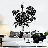 wZUN Bud Rose Pared calcomanía Estilo romántico Ramo de Flores jardín hogar Pegatina Vinilo decoración del hogar 68X44cm
