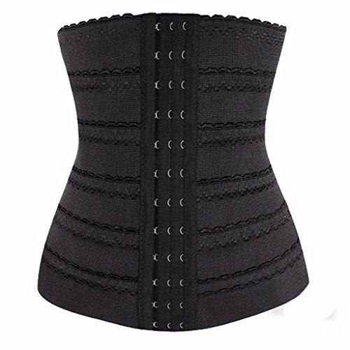 Generic Women Polyester Underbust Corset Shapewear Black, L