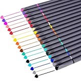 iBayam Journal Planner Pens Colored Pens Fine Point Markers Fine Tip Drawing Pens Porous Fineliner Pen for Bullet Journaling Writing Note Taking Calendar Coloring Art Office School Supplies, 18 Colors