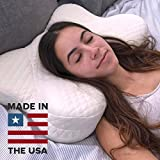 Cradle Me Cervical Pillow - Orthopedic Contour Memory Foam Pillow for Back and Side Sleepers with Neck and Spine Support - Helps Reduce Back and Neck Pain