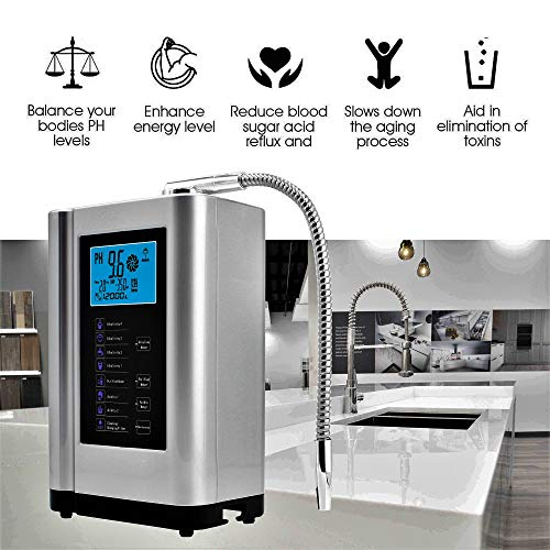 Product Image 6: Alkaline Water Ionizer, Up to -500mV ORP, PH 3.5-10.5 Water Purifier Machine, Home Alkaline Water Filter with 7 Water Settings, 6000 Liters Per Filter,Auto-Cleaning,Intelligent Voice (Silver)