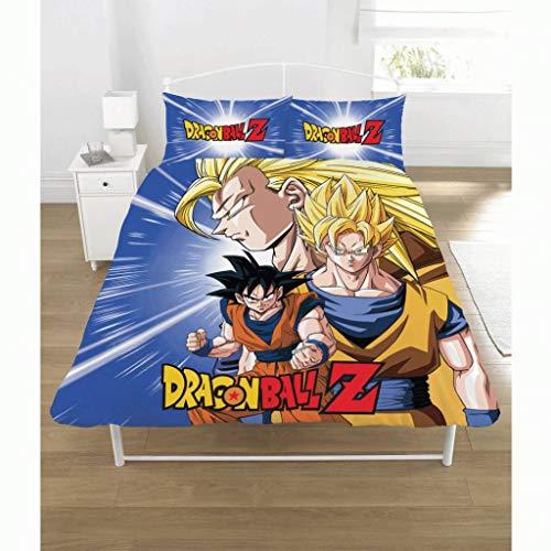 Dragon Ball Z New Official Battle Duvet Set Reversible Children's Novelty Bedding Duvet Cover and...