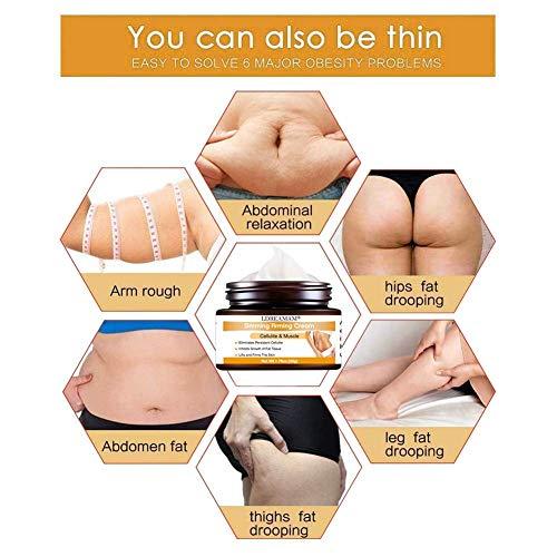 Anti Cellulite Cream,Slim Cream,Hot Cream,Break Down Fat Tissue,Tightens & Moisturizes Skin,Slim Body Cream for Shaping Waist, Abdomen and Buttocks 5