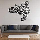 Pegatinas de pared de vinilo de motocross, deportes extremos, motocicleta, albergue juvenil