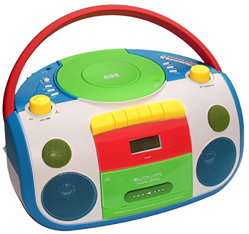 HARLEKIN TRAGBARER Kinder Radio-Kassetten-CD Player I...