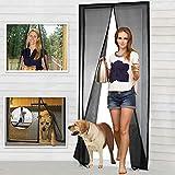 Magnetic Screen Door Fiberglass Mesh Screen Door with Magnets, Screen for Sliding Glass Door French Door Patio Door, Full Frame Hook & Loop, Hands Free, Pet Friendly (36'x82')