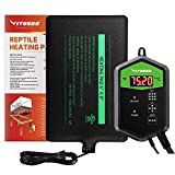 VIVOSUN 6X8 Inch Upgrade Reptile Heat Mat and Digital Thermostat Combo