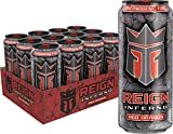 Reign Inferno Red Dragon, Thermogenic Fuel, Fitness and Performance Drink, 16 Ounce (Pack of 12)