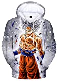 Silver Basic Dragon Ball Sweat à Capuche Sweat-Shirt Enfant Homme Pull à...