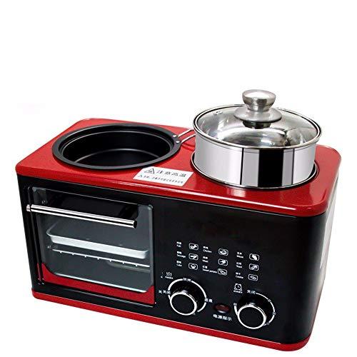 SLFPOASM Kleine Multifunktions-Sandwich-Toaster-FrüHstüCksmaschine,Braten, Kochen, Braten Zur Gleichen Zeit, Ofen Mikrowelle Kombi,Minibackofen,Backofen Klein Pizza