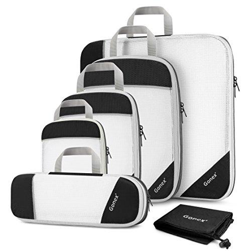 Gonex Sac Organisateur Rangement de Valise Bagage Sac Compression pour...