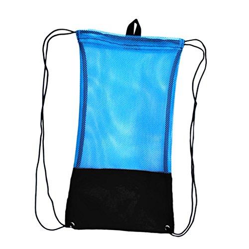 MagiDeal Erwachsene Netzbeutel Flossentasche Tauchen Ausrüstung Tasche wie Flossen Schnorchel Schutzbrille Maske - Schwarz, L