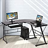 L Shaped Computer Desk Office Desk Gaming Writing Corner Desk Study PC Laptop Table Workstation with...