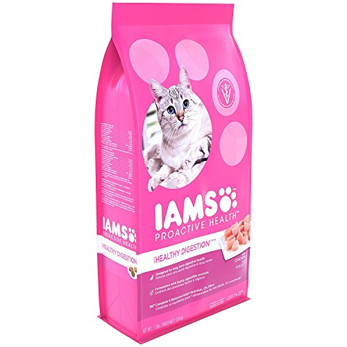 DISCONTINUED BY MANUFACTURER: IAMS PROACTIVE HEALTH Healthy Digestion Dry Cat Food (1) 7 Pound Bag, Real Chicken in…