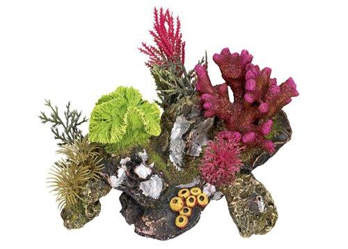 "Nobby Aqua Ornaments \""KORALLE\"" mit Pflanzen 17 x 12,5 x 12 cm"
