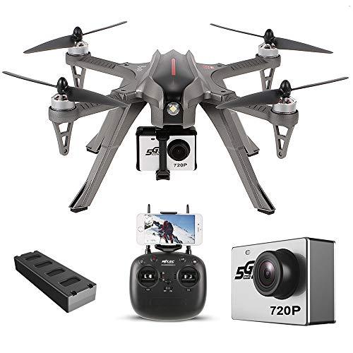 Goolsky MJX Bugs 3H Drone 2.4G 6-Axis Gyro RC Droni Quadcopter con FPV MJX C5000 5G Wifi Transmission 720P Camera Altitude Hold Alta Capacit Batteria