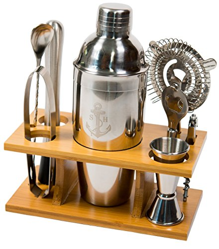 Stock Harbor 9 Piece Stainless Steel Bartender Set with...