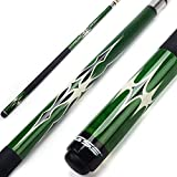 GSE Games & Sports Expert 58' 2-Piece Canadian Maple Billiard Pool Cue Stick(4 Colors, 18-21oz) (Green - 20oz)