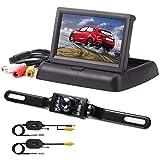 podofo 4.3' TFT LCD Moniteur Rétroviseur Pliable Caméra de Recul sans Fil...