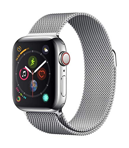 Apple Watch Series 4(GPS + Cellularモデル)- 40mmスペースブラックステンレススチールケースとブラックス...