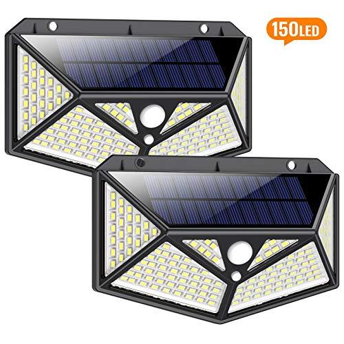 Lampade Solari Led Esterno,【 Super Luminosa 150LED-1500 Lumen】iPosible Luce Solare Led Esterno...