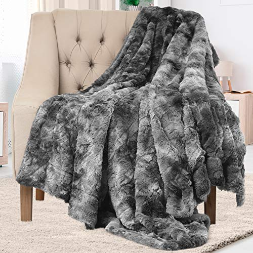 Everlasting Comfort Luxury Faux Fur Throw Blanket...