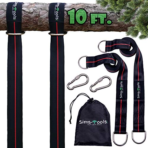 Sims-Tools - Tree Swing Hanging Kit Straps - 2 Extra Long Adjustable...