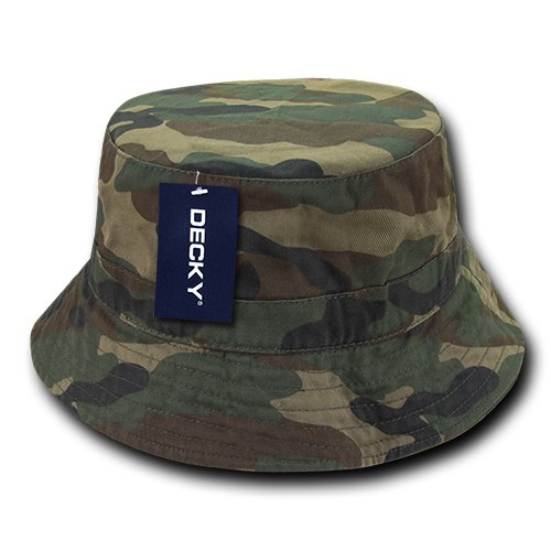 DECKY 961-PL-WDL-06 Polo Bucket Hat, Woodland, S_M