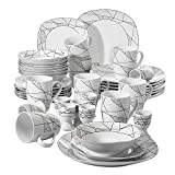 VEWEET Serena 40pcs Service de Table Pocelaine 8pcs pour...