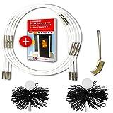 SHAFFER PRO - kit de ramonage poele pellet 9m - herisson ramonage 80 mm 100 mm...