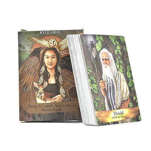Tarjetas Oracle de los ángeles y los antepasados: una Carta de Tarot con un mazo de 55 Cartas