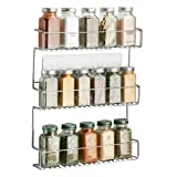 mDesign Especiero de cocina autoadhesivo AFFIXX – Estanterías metálicas para especias con tres...