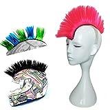 Hai Hong Helmet Hawks Motorcycle Helmet Mohawk Synthetic Wigs for Bicycle/Almost Helmet/Stick Reusable Design/Pink