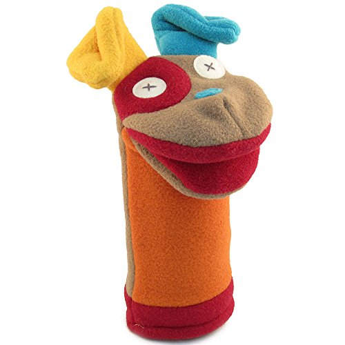 Cate and Levi 12 Handmade Softy Dog Hand Puppet (100% USA Polar Fleece) by Cate and Levi