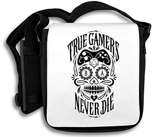 True Gamers Never Die Skull Schultertasche