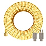 LED Rope Lights Outdoor SURNIE Warm White 50ft Waterproof Flexible, Strip Lights Kit Connectable,...