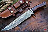Bobcat Knives Custom Handmade Bowie Knife Hunting Knife Damascus Knife True...