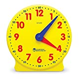 Learning Resources Big Time Student Clock, Teaching & Demonstration Clock, 12 Hour, Ages 5+
