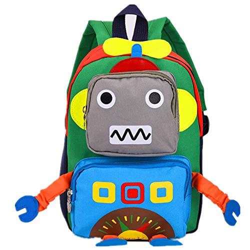 CHERUBIC Kids Toddler Cute Robot Prescool backpack cartoon travel mini bag for baby girls boys(Blue)
