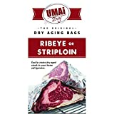UMAi Dry Ribeye Striploin Sized | Dry Age Bags for Meat | Breathable Membrane Bags for Dry Aging Steak | Easy At Home Dry Aging in Your Refrigerator | Includes 3 Bags