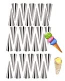RoseFlower 30PCS Stainless Steel Screw Croissant Mold, Conical Tube Cone Roll Moulds Spiral Pastry Cream Horn Cake Bread Mold for Cannoli Tubes Croissant Baking#2