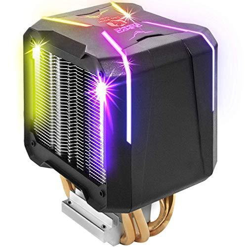 EMPIRE GAMING – GUARDIAN V201 Ventirad de Processeur PC Gamer -Ventilateur RGB SYNC Adressable -Refroidisseur Aluminium 4 Caloducs en Cuivre -Dissipateur de Chaleur Silencieux -CPU Cooler Intel et AMD