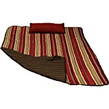 Sunnydaze Polyester Quilted Hammock Pad and Pillow Set Only, Outdoor Weather-Resistant, Awning Stripe