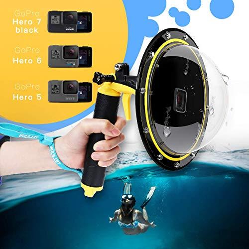 AFAITH Gopro Dome Port, Custodia impermeabile 6 pollici con galleggiante Impugnatura compatibile con GoPro Hero 6/Hero 5, Hero 2018, GoPro Hero7 Black TM051