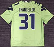 Free Shipping Certificate of Authenticity Kam Chancellor Unsigned Seattle Seahawks Action Green Nike Jersey Size Men's M Nike NIKE GAME JERSEY Model